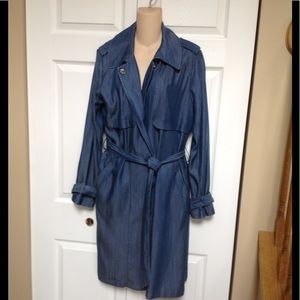 Vince Camuto soft denim trench coat